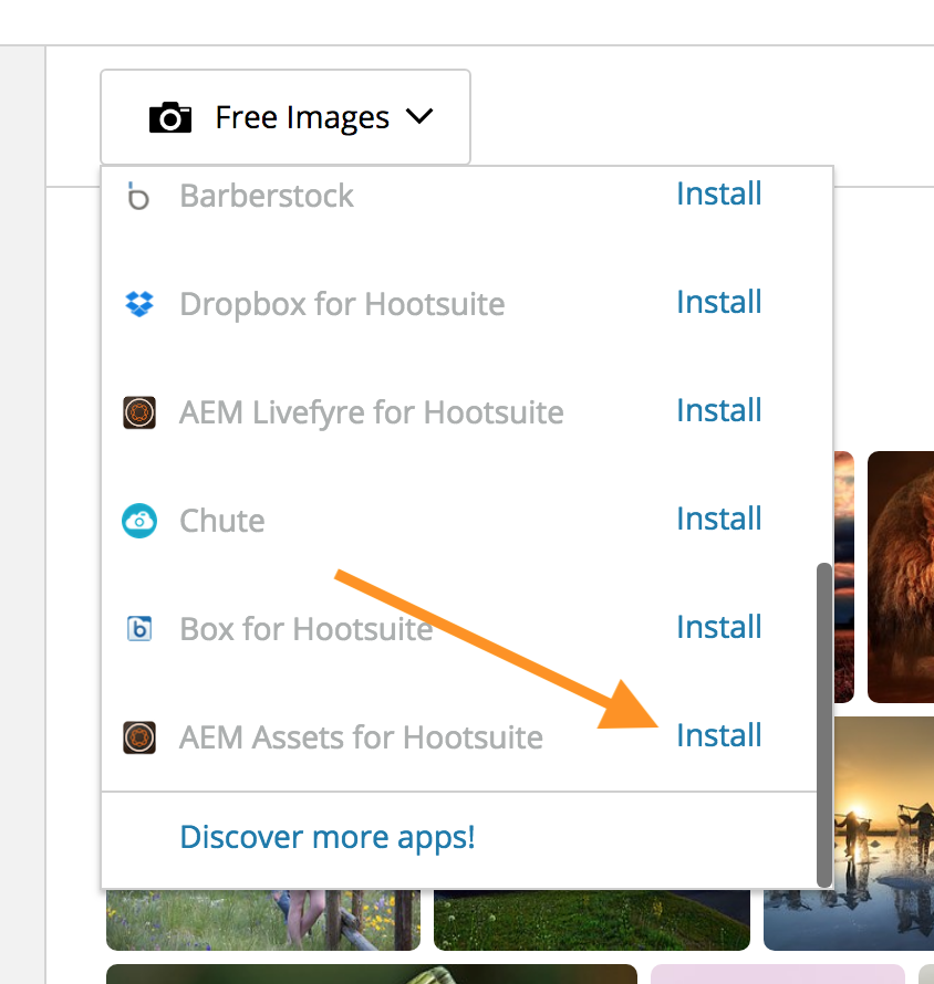 AEM Assets for Hootsuite